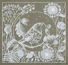 Panna Cross Stitch Kit : White Lace Bird