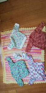 Hand Knitted Baby Jackets, Blanket and Socks