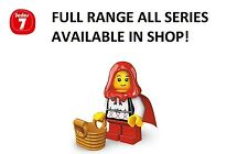 Lego minifigures grandma visitor/red riding hood series 7 unopened new sealed