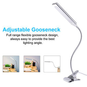 1X 48 LED Flexible USB Clip-on Bed Table Desk Lamp Metal Reading Light 5W Silver