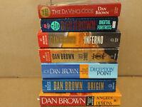 LOT OF 3 The Da Vinci Code Robert Langdon-Dan Brown Paperback PBs *RANDOM MIX*