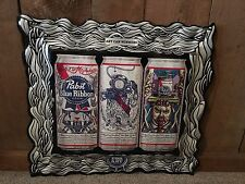 New Pabst Blue Ribbon Beer Can Art Winner Embossed Sign Bar Pub Man Cave Beer