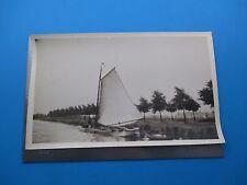1925 Sailboat Way To Marken Holland Photo B&W Antique Original Circa 1925 L341
