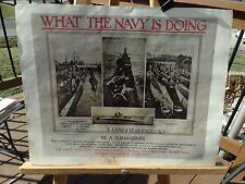 "PRINT OF WWII NAVY RECRUITMENT POSTER NAMED ""WHAT THE NAVY IS DOING"" SUB-MARINER"