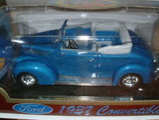 1:18 1937 FORD CONVERTABLE HOT/STREET ROD .NOS,NLA, MIB BLUE METALLIC