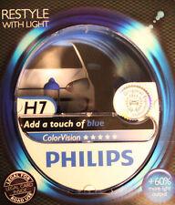 Philips 2x H7 blau ColorVision Autolampe Scheinwerfer Birne bis 60% mehr Licht