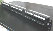 TELECT 24-Port CAT6 Unshielded Rackmounted Ethernet Patch Panel (EPPE-CAT6-24ILD