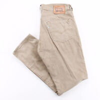 Vintage LEVI'S 511 Beige Corduroy Slim Straight Trousers Mens W34 L32