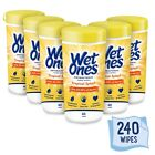 Wet Ones 6 canister each 40 ct total 240 tropical splash