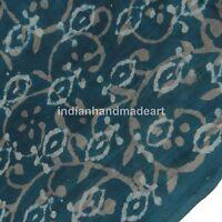 1 Yard Indian Blue Indigo Hand Block Print Cotton Fabric Dressmaking Sewing-52*