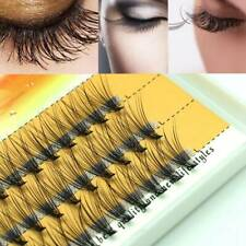60x Cluster False Eyelashes Flare Individual Eye Lashes C Curl Knotted/Knot Free