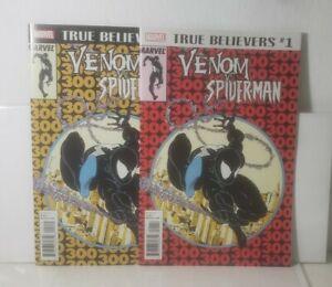 True Believers Venom vs. Spider-Man 1 (2018 MARVEL)[AMAZING SPIDER-MAN 300] NM+!