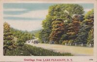 Postcard Greetings Lake Pleasant NY