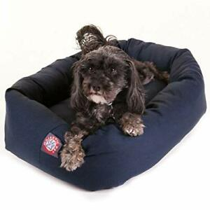 24 inch Blue Bagel Dog Bed By Majestic Pet Products