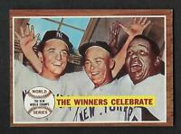 1962 Topps #237 The Winners Celebrate YANKEES BEAUTIFUL NM