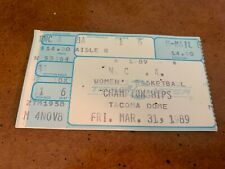 1989 Tennessee Vols Auburn Tigers Women's Basketball Semifinals Ticket