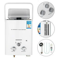 6L Tankless Hot Water Heater RV's Campers Propane Gas LPG On-demand Boiler 2GPM