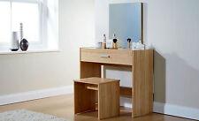 SIMPLE JULIA OAK DRESSING TABLE SET VANITY DESK STOOL MIRROR DRESSER MODERN UK