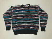 Vintage 90s Sea Winds 3D Knit Coogi Style Multi-Color Sweater Adult Size Large