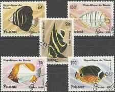Timbres Poissons Bénin 710BZ/CD o lot 1237