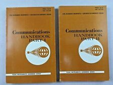 Beautiful Pair of COMMUNICATIONS Handbook Part 1 & 2 Texas Instruments 1965 ED
