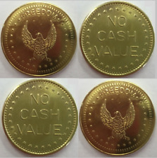 More details for 100 x eagle freedom tokens no cash value for coin meters timers 25mm x 1.5mm
