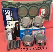 YCP 75mm STD Vitara Pistons Low Comp + Rings+ Bearings + Gasket Honda D16 Turbo