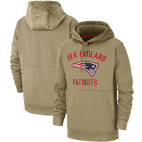 New England Patriots Football Hoodie Salute to Service Sideline Pullover Top