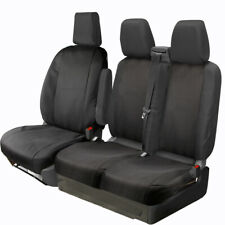FULLY TAILORED BLACK POLYESTER SEAT COVERS for FORD TRANSIT CUSTOM 2013 on