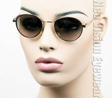 Small Metal Oval/Round Sunglasses John Lennon Vintage Style Gradient Gold 851