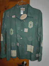 Coldwater Creek women's long sleeve button-down silk blouse shirt size PS - MWT