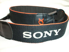 SONY Alpha  camera strap  white logo on Black , Orange , 1 1/2 Wide  #02806