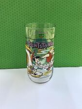 """The Flintstones """"The First 30 Years"""" Hardee's Advertising Glass"""