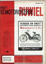 Het gemotoriseerde rijwiel  10-1955 - Dutch moped magazin - Wegproef DMF. Junior
