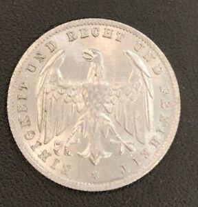 UNC Germany 1923 A 500 Mark! Nice Grade, Attractive Coin!