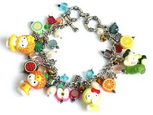 Pretty Hello Kitty Animal Charm Bracelet (Adjustable) W - #003
