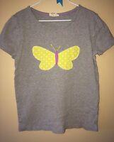 Mini Boden Gray Butterfly Tee T Shirt Girls 7 8 Free Shipping
