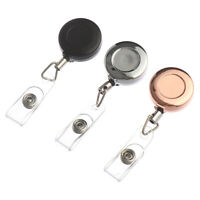 Name Card Stationery Anti-Lost Clip Retractable Lanyards Key Ring Badge Holder