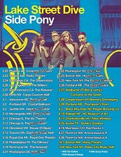 """Lake Street Dive """"Side Pony"""" 2016 Usa Concert Tour Poster-Pop, Indie, Jazz Music"""