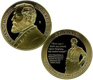 ROBERT E. LEE COMMAND COMMEMORATIVE COIN PROOF LUCKY MONEY VALUE $99.95