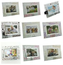 Mirror Glass Words Photo Frames Family Friends Sister Auntie Uncle Dad Grandad