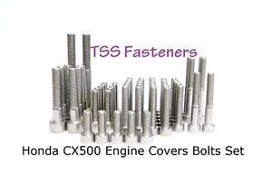 Honda CX500/CX 500 / Custom / Eurosport - Full Engine Covers Bolts Set - S/Steel