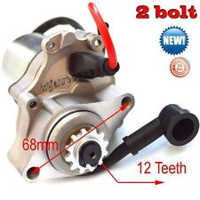 Steel Electric Starter Motor 2-Bolt Lower for 125cc Go Kart ATV Scooter Moped