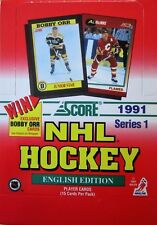 1991-92 Score Hockey English Series 1 Box - 36 Packs per Box - Brand New