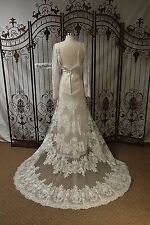 807 SOTTERO AND MIDGLEY DANAE SZ 16 $1489 IVORY LACE W SLEEVE WEDDNG DRESS GOWN