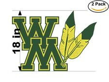 William and Mary Tribe 2 Stickers 18 inches Sticker Decal