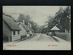 Bedfordshire OLD WARDEN Village Water Pump c1915 Postcard by Bedford Series