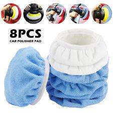 8X Polishing Bonnet Buffer Pads Soft White Wool For 6in Car Polisher 150mm
