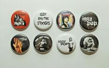 "8 1"" Iggy Pop Stooges Wild One Punk Rock and Roll - pinback badges buttons"