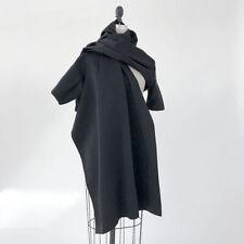 ⭕ 60s Vintage Avant garde hooded cape Jacket : minimalist yohji issey dress 70s